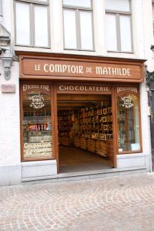 Eines von vielen Schokoladengeschäften in Brügge