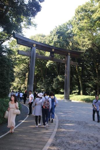 Torii am Eingang des Meiji-Schreins