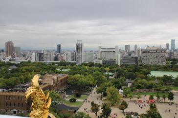 Aussicht auf Osaka vom Osaka Castle