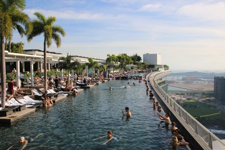 Singapur: auf dem Marina Bay Sands