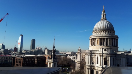 London: Blick vom One New Change auf St. Pauls