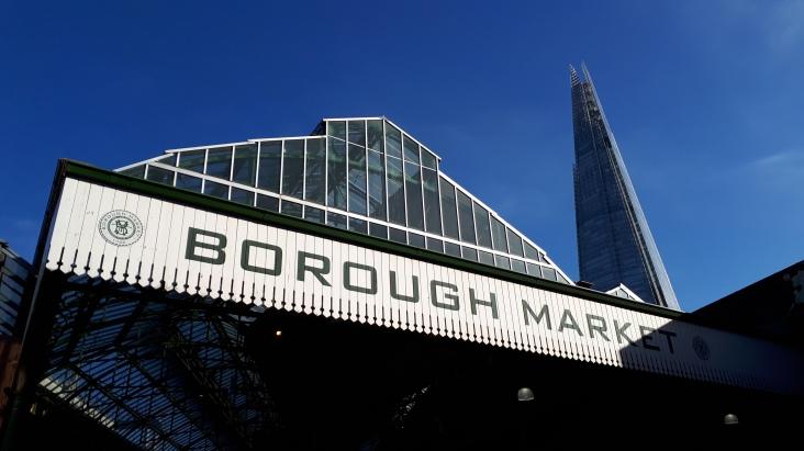 London: auf dem Borough Market (mit Shard)