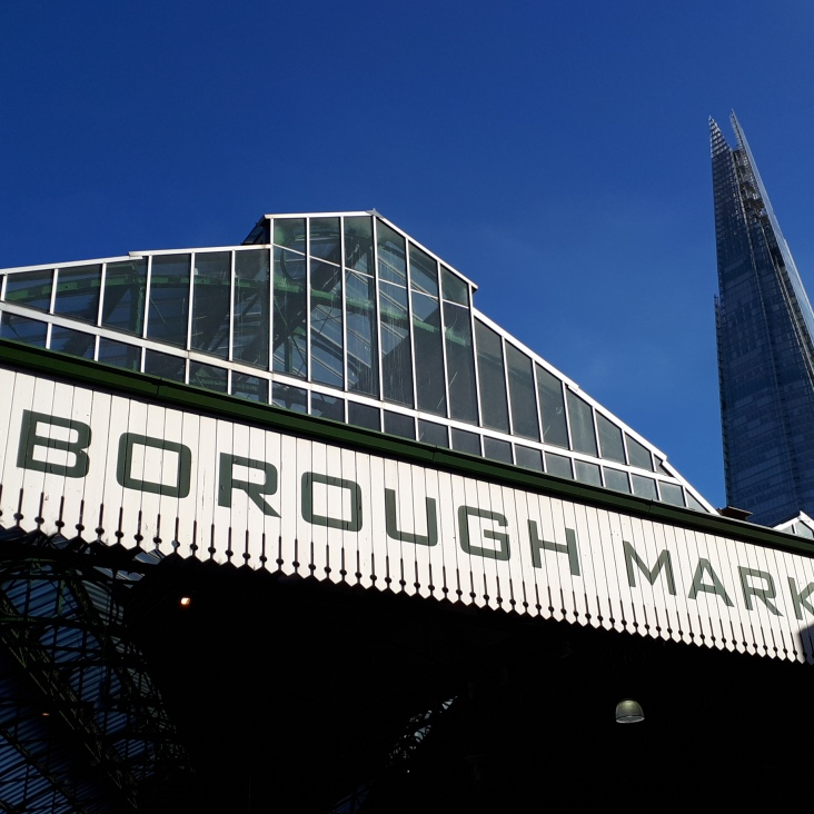 London: auf dem Borough Market (mit Shard)
