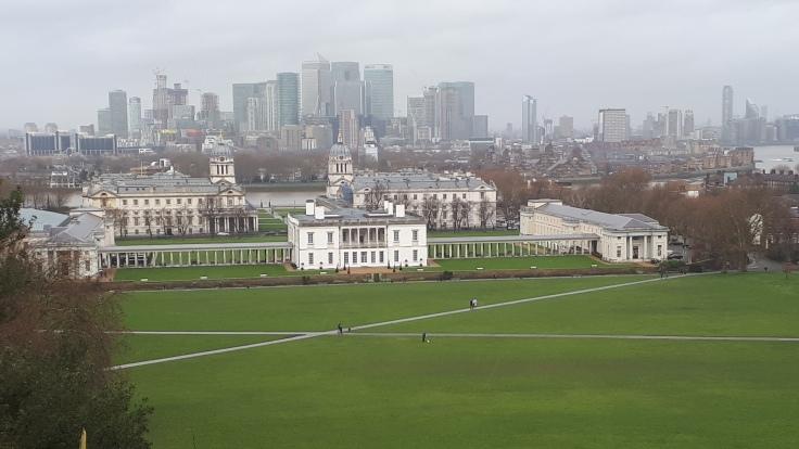 Greenwich: Aussicht vom Royal Observatory