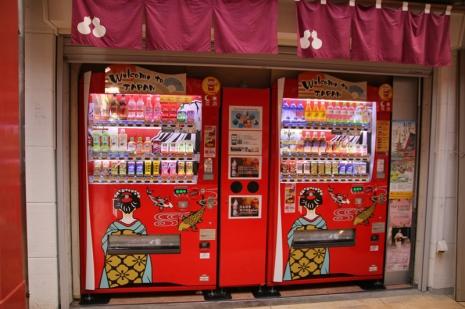 Getränkeautomat für Touristen