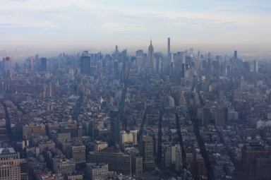 New York Blick vom One World Observatory