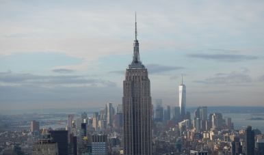 New York Empire State und One World Observatory