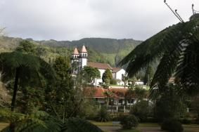 Parque Terra Nostra Ausblick auf Ort