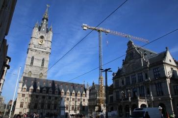 Belgien Gent Belfried Lakenhalle Rathaus