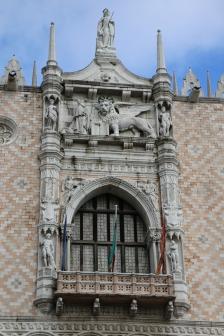 Venedig Dogenpalast Markuslöwe
