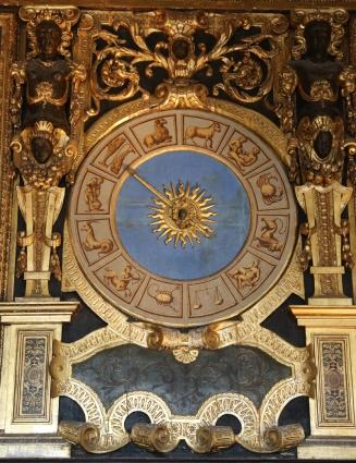 Venedig Dogenpalast Sternzeichenuhr