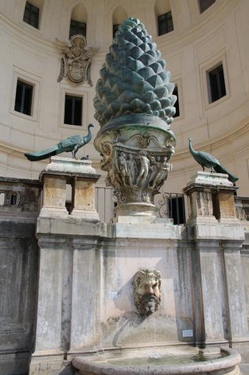 Rom Brunnen Vatikanische Museen