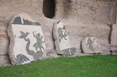 Rom Caracalla Thermen Mosaik