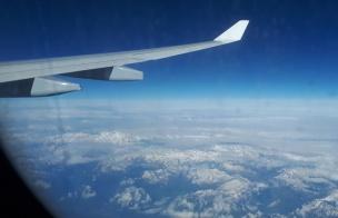 Rom Flug über die Alpen