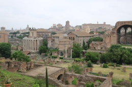 Rom Forum Romanum Blick vom Palatin