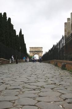 Rom Pflaster auf dem Weg zum Forum Romanum