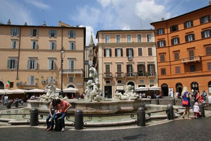 Rom Piazza Navona Neptunbrunnen