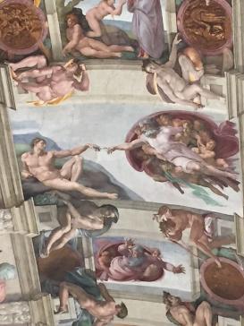 Rom Sixtinische Kapelle Erschaffung Adams