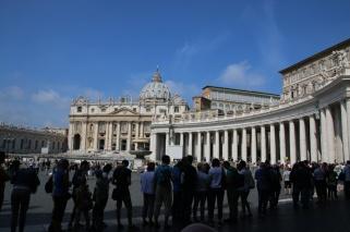 Rom Vatikan Petersplatz Schlange