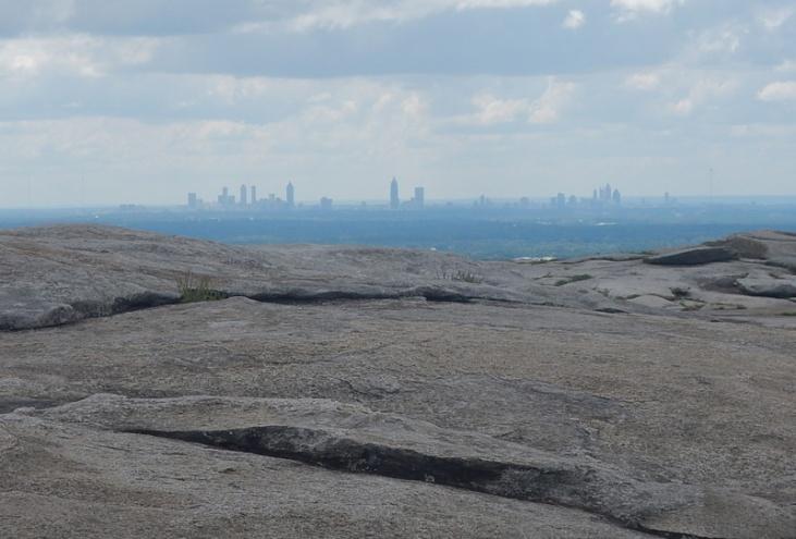 Georgia Stone Mountain Blick auf Atlanta
