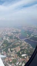 Portugal Anflug auf Porto