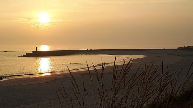 Portugal Sonnenuntergang am Strand von Castelo do Neiva