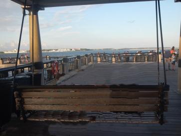 South Carolina Charleston Blick aufs Meer und Fort Sumter