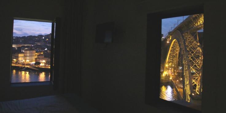 Portugal OhPorto Blick aus dem Fenster