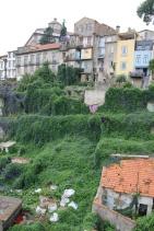 Portugal Porto bewachsene Häuser und Gärten