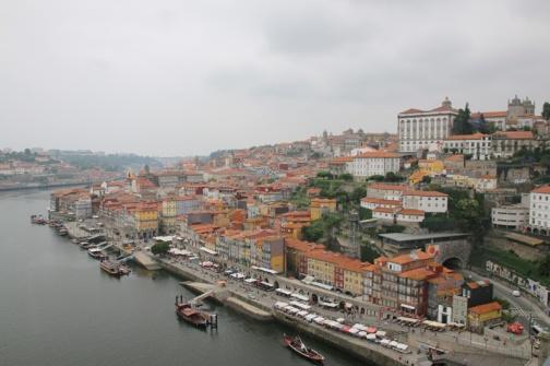 Portugal Porto Blick Ribeira von Ponte Luis