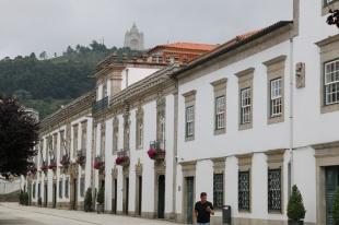 Portugal Viana do Castelo mit Wallfahrtskirche Santa Luzia
