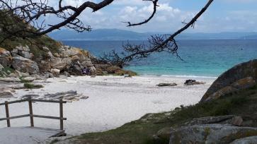Spanien Galizien Islas Cies Praia das Figueiras
