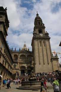 Spanien Santiago de Compostela Eingang Kathedrale