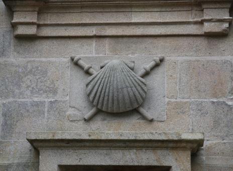 Spanien Santiago de Compostela Jakobsmuschel