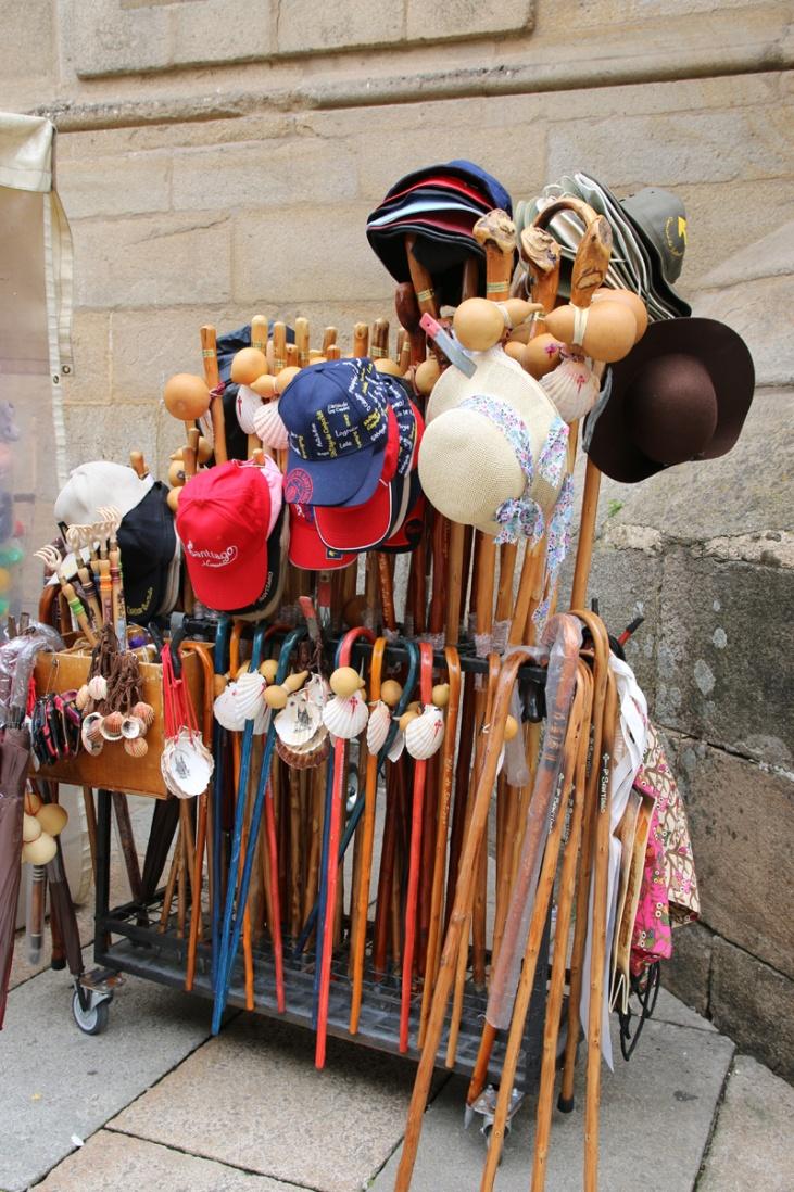 Spanien Santiago de Compostela Pilgerutensilien