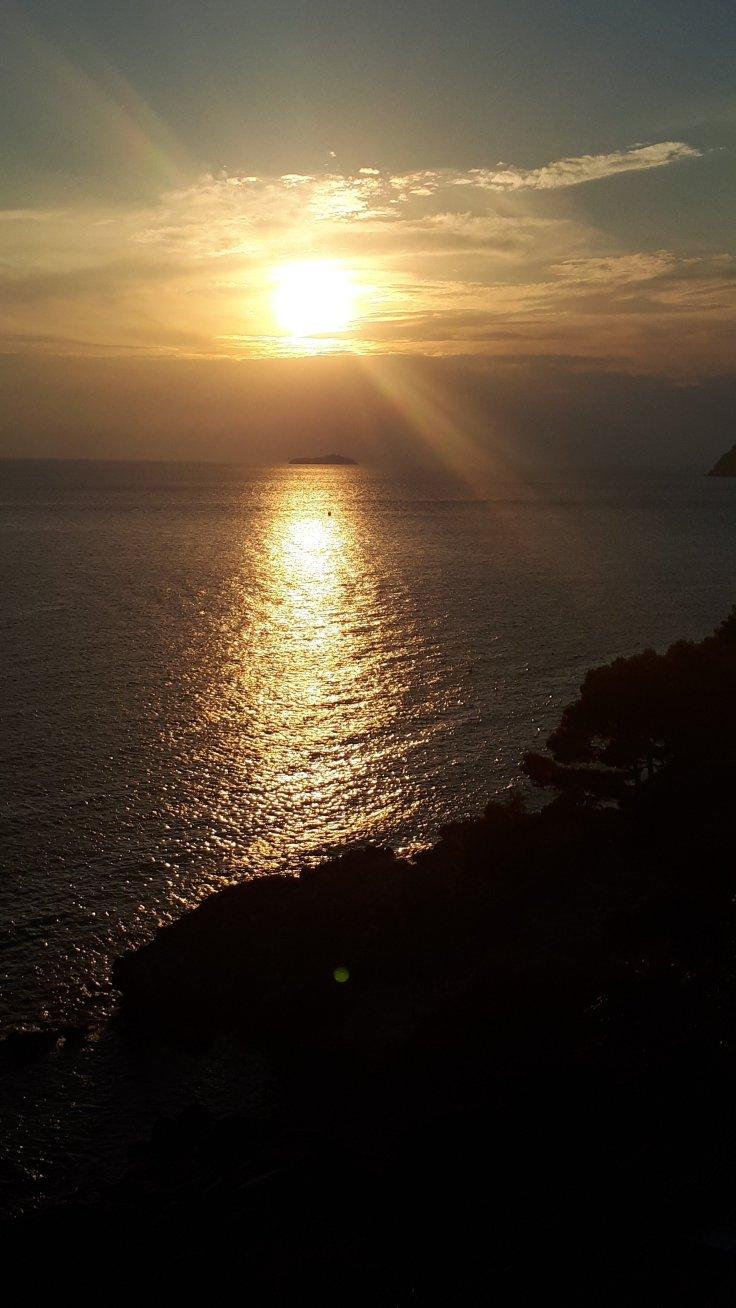Kroatien Dubrovnik Sonnenuntergang