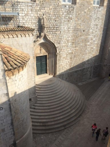 Kroatien Dubrovnik Portal der Dominikanerkirche