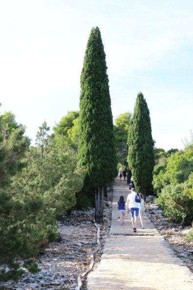 Kroatien Lokrum Weg zum Fort Royal Khaleesi Drachen
