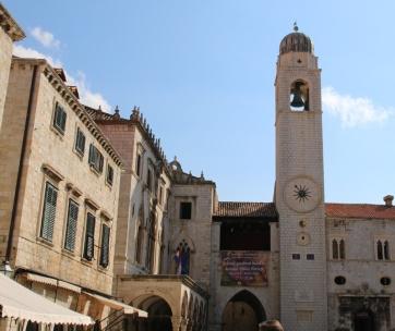 Kroatien Dubrovnik Altstadt Luza Uhrturm Sponzapalast
