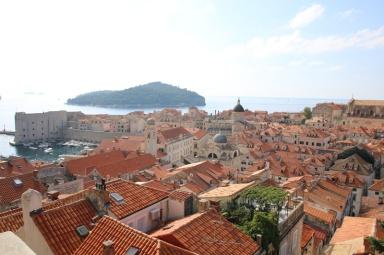 Kroatien Dubrovnik Altstadt Stadtmauerrundgang