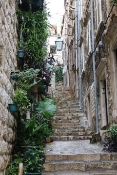 Kroatien Dubrovnik Altstadtgasse