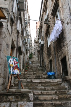 Kroatien Dubrovnik Altstadtgassen