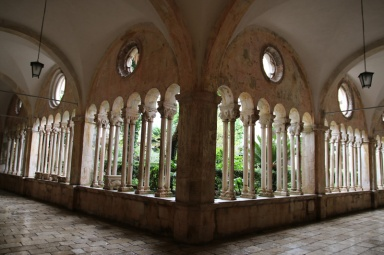 Kroatien Dubrovnik Franziskanerkloster Kreuzgang