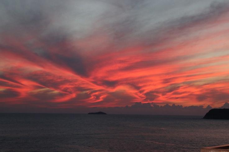 Kroatien Dubrovnik Sonnenuntergang Tag 3