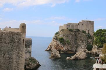 Kroatien Dubrovnik Stadtmauerrundgang Bokar Lovrijenac