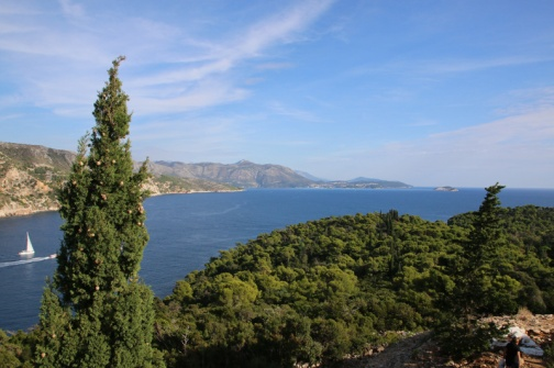 Kroatien Lokrum Blick von Fort Royal