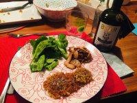 Boar Gin mit Rösti, Trüffelöl und Pilzen