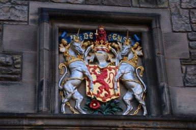 Schottisches Wappen mit Einhörnern