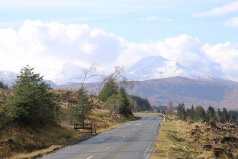 Highlands schneebedeckt