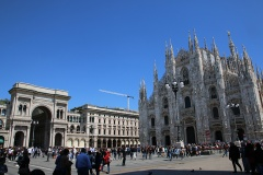 Mailand Dom und Eingang Galleria Vittorio Emanuele II